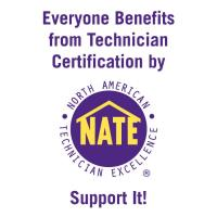 Doty Mechanical employs NATE certified technicians, and encourages continued education.